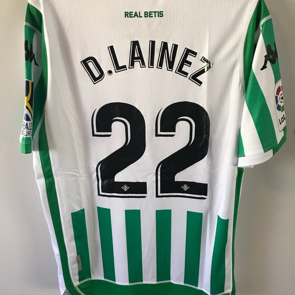 the best attitude 9dac7 2e027 Diego Lainez #22 Real Betis New Home Jersey NWT